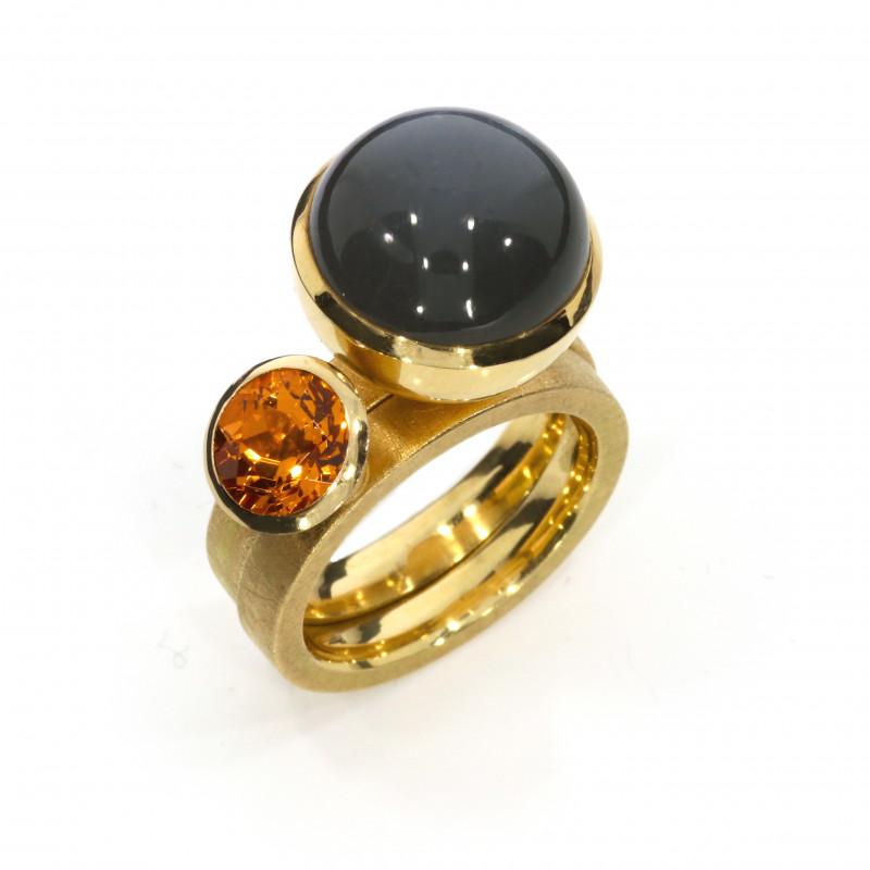 Ringe Rosegold orange Mandaringranat Mondstein (1005025.21 1005025.22)