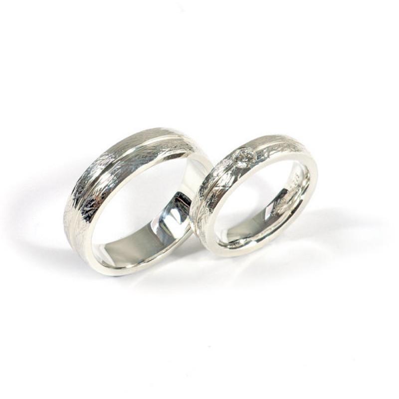Partnerringe Silber Brillant (1007336)