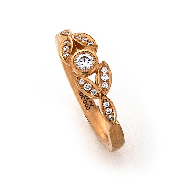 Verlobungsring Rotgold Brillanten (1008557)