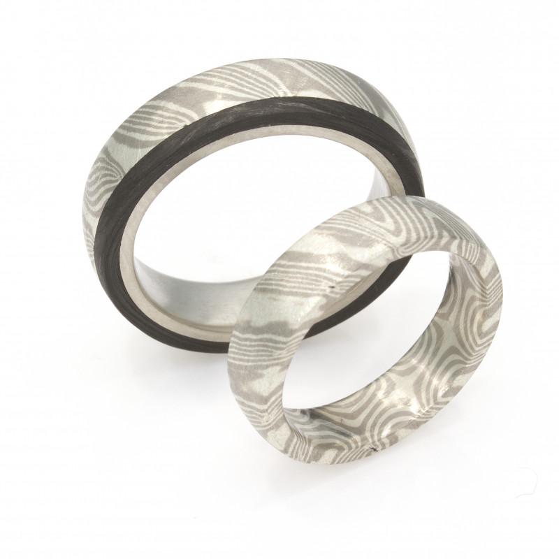 Eheringe Mokumegane Palladium Silber Carbon (1008862)