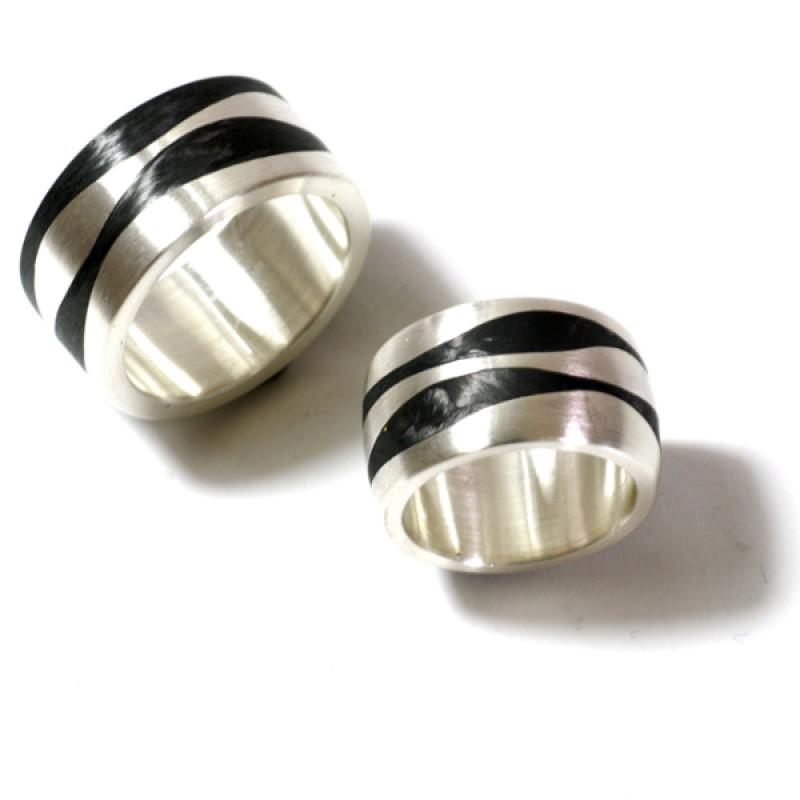 Eheringe Silber Carbon (250006)