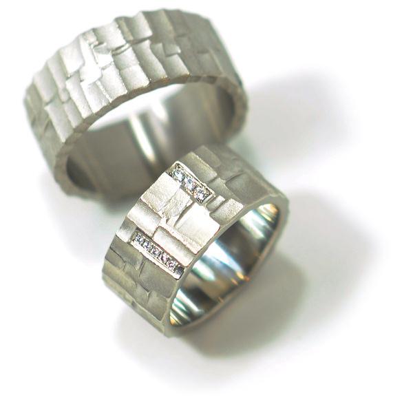 Eheringe Palladium Diamanten (250027)