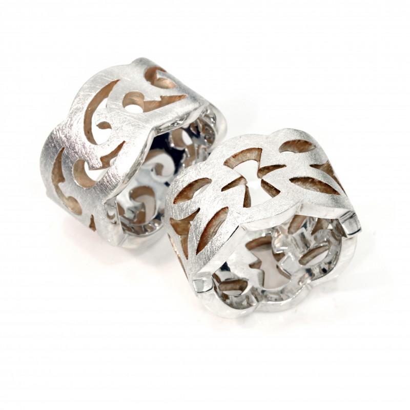 Damenring Silber Ornament Unikatschmuck (250191 250193)