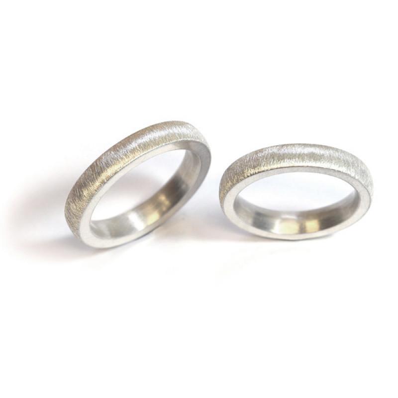 Freundschaftsringe mit feiner Oberfläche Silber (250622)