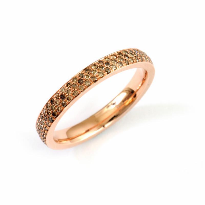 Verlobungsring Brillanten Rotgold Alliance (250827)