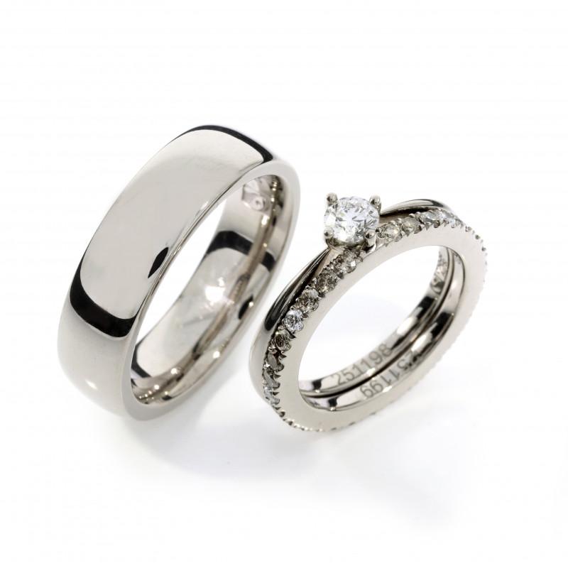 Eheringe Fairtrade Weissgold Brillanten Verlobungsring (250844_251199_251198)