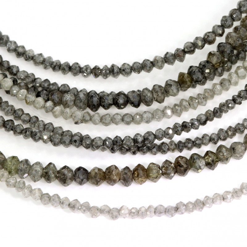 Diamantcolliers grau (251310 250923 250918 250915)