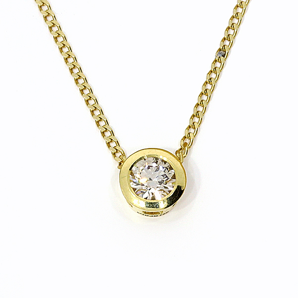 Anhänger Collier Brillant champagner Gelbgold Fairtrade (250934)