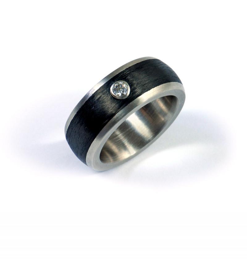 Ring Palladium Carbon Brillant (251080)