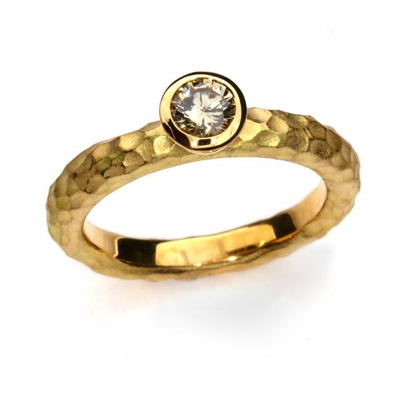 Verlobungsring Fairtrade Rosegold Brillant Australien (251116)
