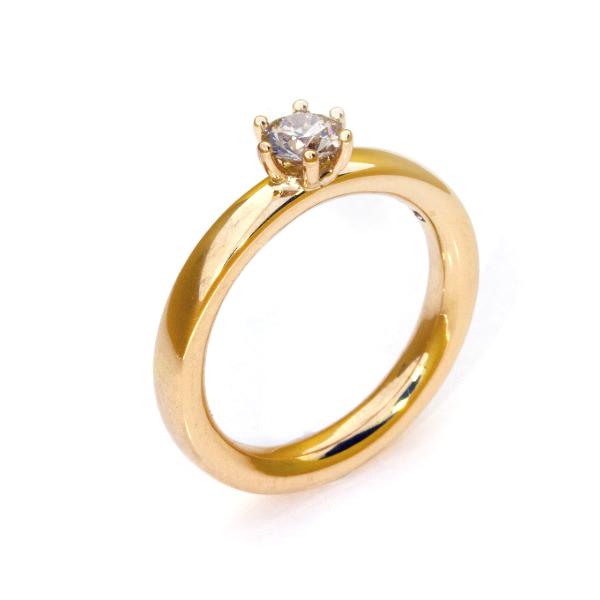 Verlobungsring Fairtrade Rosegold Brillant (251123)