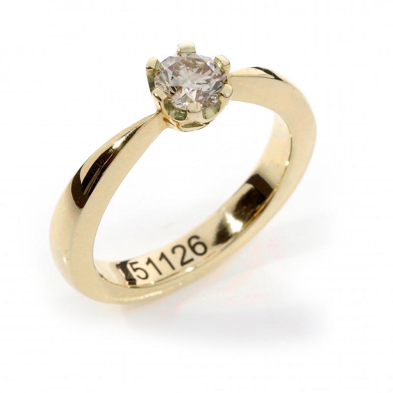 Verlobungsring Fairtrade Rosegold champagnerfarbener Brillant (251126)