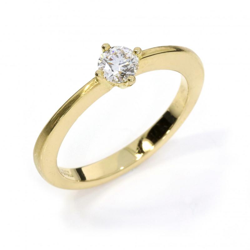 Verlobungsring Gelbgold Brillant weiss (251143)