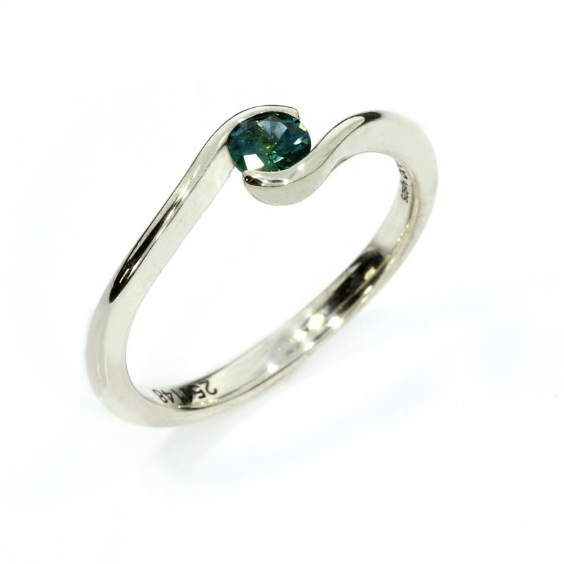 Verlobungsring Silber Saphir USA verspielt (251148)