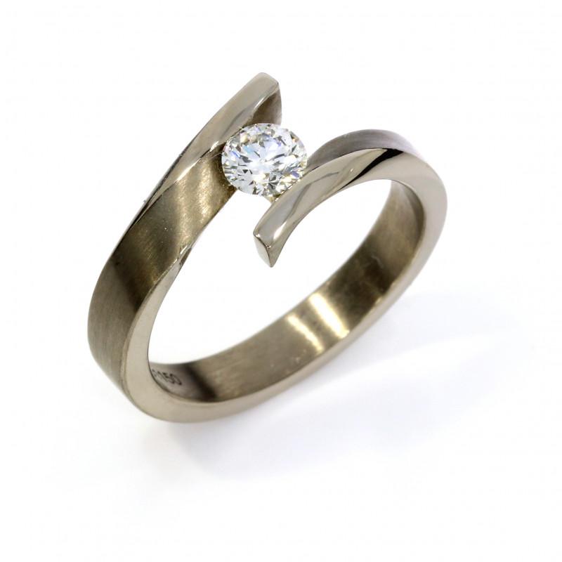 Verlobungsring Weissgold Fairtrade Brillant (251150)